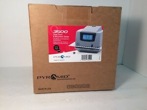 Pyramid 3500 Multi purpose Time Clock And Document Stamp Free Pack Of Time Cards