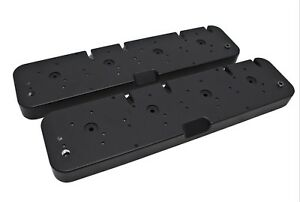 Valve Cover Adapter Kit Black Aluminum Ls Chevy Cnc 1955 1985 Chevy Covers