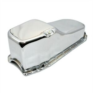 Stock Capacity Oil Pan Chrome Finish 80 85 Small Block Chevy Sbc 283 305 327 350
