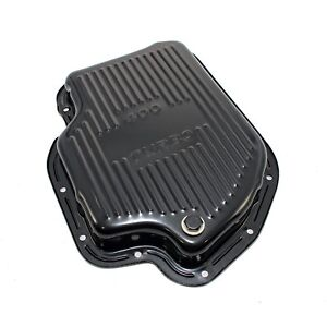 Black Automatic Transmission Pan Stock Depth 1 7 8 Th400 Gm Chevy Turbo 400