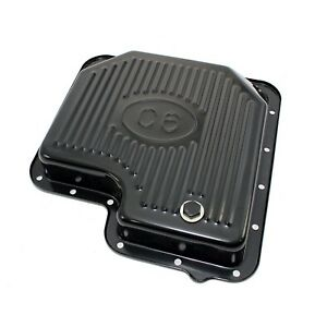 Automatic Transmission Pan Black Plated Steel Stock Capacity With Logo Ford C6