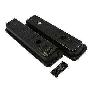 Black Centerbolt Valve Covers Factory Style 87 00 Sbc Chevy 5 0 305 5 7 350