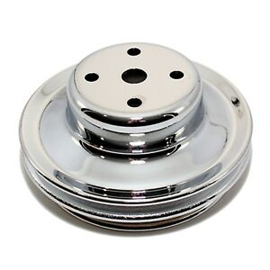 Chrome Long Water Pump Pulley 2 Groove Bbc Big Block Chevy Lwp 396 427 454