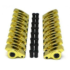 Extruded Aluminum Roller Rockers Arms Sbf Small Block Ford 1 6 Ratio 3 8 Stud
