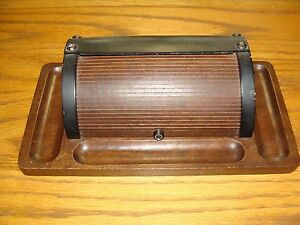 Very Nice Wood Roll Top Desk Top Accessory Organizer Tray
