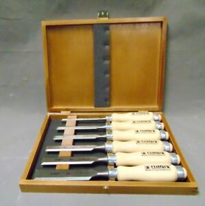 Narex Cr mn Steel 6 Piece Carving Chisel Set Made In Czech Republic
