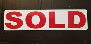 Sold Magnetic Real Estate Sign Rider For Yard Sign