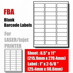 1 X 2 5 8 500 5000 Sheets Mailing Address Shipping Labels Self Adhesive 30 Up
