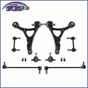New Front Lower Control Arm Ball Joint Sway Bar Link Kit For 03 11 Volvo Xc90