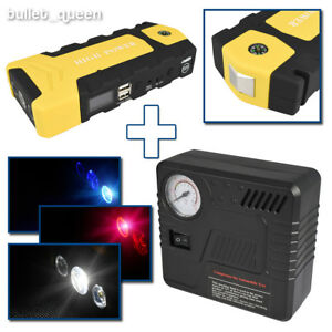 82800mah Car Jump Starter Emergency Charger Booster Power Bank Air Compressor