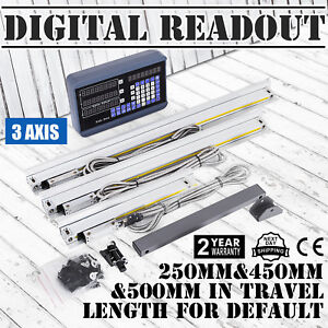3 Axis Digital Readout Dro For Milling Machine With 3 Precision Linear Scale Hot