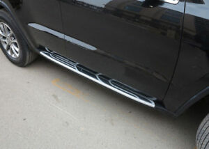 For 2011 2017 Jeep Grand Cherokee Side Running Boards Nerf Bars Pair Set