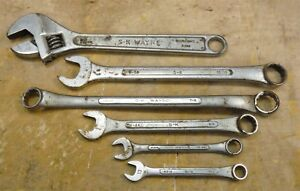 Lot Of 6 Sk Tools Wrenches Adjustable Boxed Combination Sae Metric r205