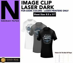 Image Clip Laser Dark Self weeding Heat Transfer Paper 8 5 X 11 50 Sheets
