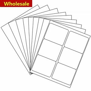 3 1 3 X 4 Shipping Address Labels Laser Ink Jet Adhesive 6 Up 500 5000 Sheet