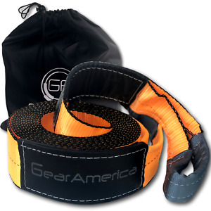 Gearamerica Recovery Tow Strap 4 X 30 Ultra Heavy Duty 40 000 Lbs Strength