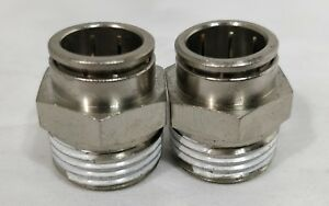 Air Suspension System 2 Fittings 1 2 Npt Male To 1 2 Air Hose Push In Air Bag