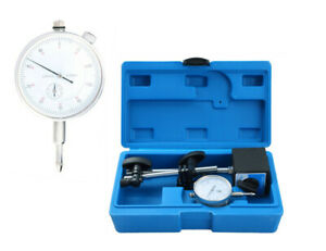 Test Precision Measuring Dial Indicator Gauge Magnetic Base Set Resolution 0 001