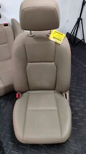 2012 Mercedes Glk350 Front Rear Tan Leather Power Bucket Seats W O Memory Pkg