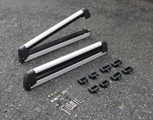 Universal Ski And Snowboard Carrier Rack Pair Compatible With Cross Bars