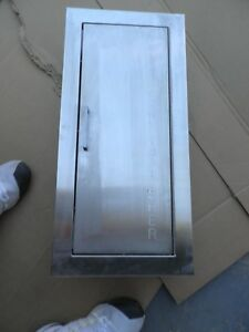 Larsen s Recessed Fire Extinguisher Cabinet Stainless Steel Finish free Ship