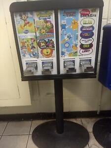 Sticker Tattoo Vending Machine 4 Column Arcade Redemption 4 Slot 2 Quarters
