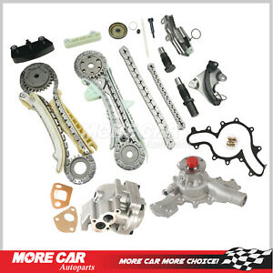 Timing Chain Kit Cover Gaskets Oil Water Pump Fit 97 02 Ford Explorer Ranger 4 0