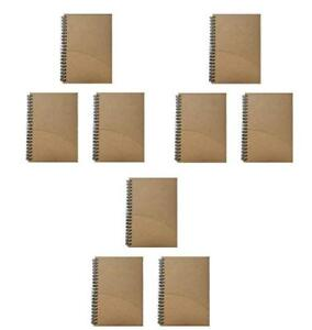 Notepads With Kraft Paper Covers Bulk Buys 9 Notebooks 5 X 7 Front Pocket