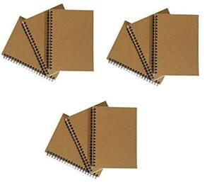 Notepads With Kraft Paper Covers Bulk Buys 9 Notebooks 5 X 7 No Pocket
