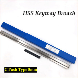 Hss Metric Keyway Broach 5mm C Push Type Cnc Machine Tool Accessories T