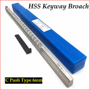 6mm C Push type Keyway Broach Cutter Metric Size Cnc Machine Metalworking Tool T