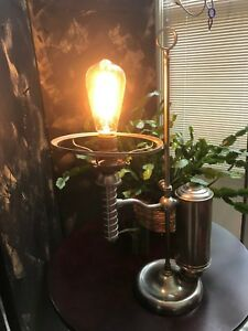 Steampunk Antique Oil Lamp Converted To Electric