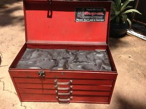 Matco Tools Snap On Vintage Tool Box Red 4 Drawer Top Drawer