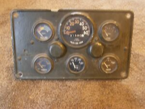Wwii 2 5 Ton Truck 6x6 Full Cluster Dash Gauges chevy ford studebaker a C Delc