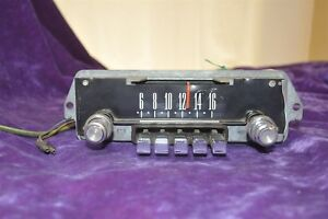 Old Vintage Radio Ford Passenger Car 5tmf Missing Lens With Knobs N Buttons