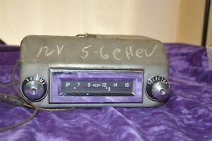 Old Vintage Radio 5 6 Chevrolet 12 Volts 1956 Chevy Untested Tube