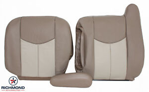 2003 2006 Gmc Yukon yukon Xl Denali driver Side Complete Leather Seat Covers Tan