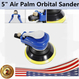 New 5 Air Palm Orbital Sander Random Hand Sanding Pneumatic Round Usa Shipping