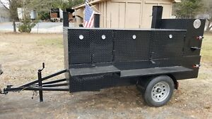 Roadboss Bbq Smoker Grill Trailer Food Truck Mobile Catering Business Restaurant