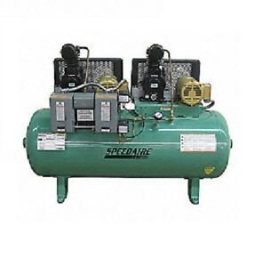 5z700c Electrical Horizontal Tank Mounted 1 50hp Air Compressor 90 Psi 80 Gallo