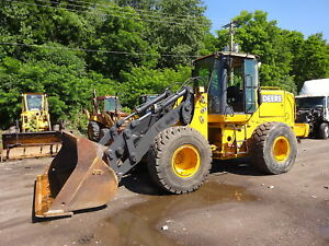 John Deere Tc62h Wheel Loader Clean 624h Tool Handler Jrb Q c Heat A c 11k Hrs