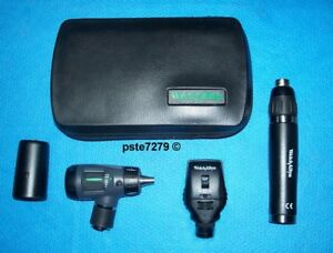 Welch Allyn Lithium Ion Led Set Macroview Otoscope Coaxial Ophthalmoscope