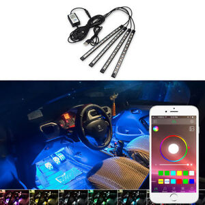 Rgb Usb Phone Control Led Interior Atmosphere Light For Ford F 150 F 250 Focus F