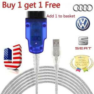 2packs Vag Com Cable Usb Scanner Tool Obd 2 Ftdi 409 1 For Audi Us