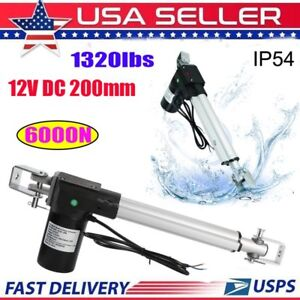 6000n Linear Actuator 12v Dc 200mm Electric Door Opener With Mounting Bracket Vp