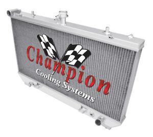 3 Row Aluminum Champion Radiator For 2010 2011 Chevrolet Camaro V8 Engine