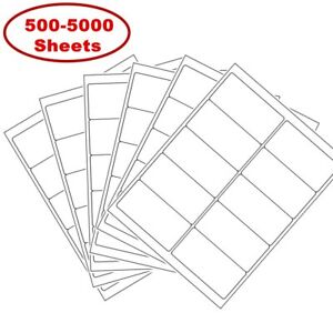 2 X 4 Shipping Address Labels For Laser Ink Jet Adhesive 10 Up 500 5000 Sheets