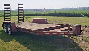 2000 Towmaster T10 Utility car Hauler heavy Duty Trailer W Ramps