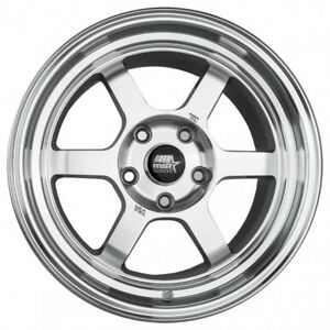 Mst Wheels Time Attack Rims 16x8 20 M Silver 5x114 3 Stance 02 Acura Rsx Type S