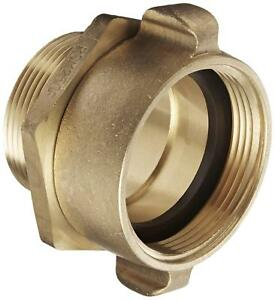 Dixon Valve Rsm250f Brass Fire Equipment Swivel Adapter With Rocker Lug 2 1 2